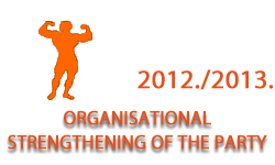 Organisational strengthening of the party in the academic year 2012/2013