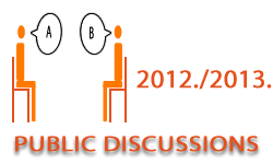 Public discussions in the academic year 2012/2013