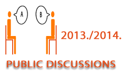 Public discussions in the academic year 2013/2014