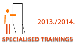 Specialised trainings in the academic year 2013/2014
