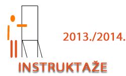 Instruktaže u ak. god. 2013./2014.